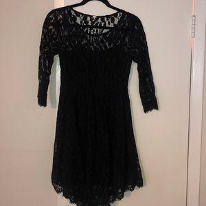 Free People 3/4 lace dress